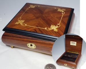 REUGE Swiss Music Box Wood Jewelry Box Can You Feel The Love Tonight Elton John