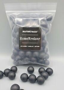 Homewreker Busting Balls .68cal Solid Nylon Paintballs Less Lethal Byrna Kinetic