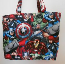 Handmade Marvel Avengers Captain America Iron Man Hulk & More Tote Purse Bag