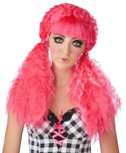 Wig Crimped Doll Pigtail Style Synthetic Hair Character Costume Wig Asst.