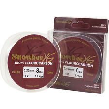 Snowbee XS Fluorocarbon Line - Clear -10lbs x 100m