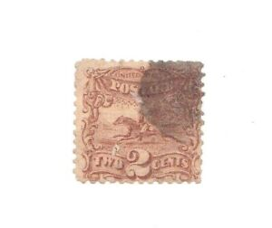 USA Stamps 1869 Scott # 113 Pictorial Pony Express 2 Cent  w/ Grill Used