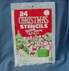 VTG LIBERTY BELL CHRISTMAS 24 WINDOW STENCILS #85150 UNOPENED