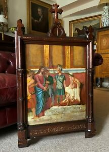 Large Gothic Oak framed 19th Century Religious Old master Oil Painting For TLC