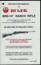 1995 Ruger 7.62 x 39mm Mini-14 Ranch Rifle Owner's Manual Take Down & Parts List
