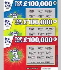 FAKE JOKE LOTTERY SCRATCH CARD SCRATCHCARDS REVENGE PRANK £50,000 - £100,000
