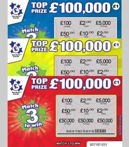 FAKE JOKE SCRATCH CARD SCRATCHCARDS Put in Birthday Card - Fun Lottery Lockdown