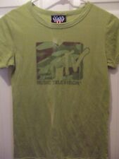 Junk Food MTV T shirt - Junior's Medium - light green - cotton blend