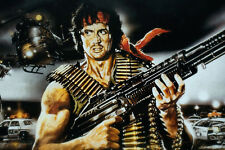 Rambo First Blood  ART SILK POSTER 13x19