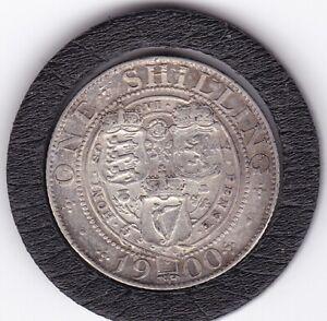 1900  Queen   Victoria   Shilling  (1/-)  Silver  (92.5%)   Coin