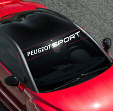 For PEUGEOT SPORT Car VINYL STICKER Windshield Windscreen BANNER DECAL Graphics