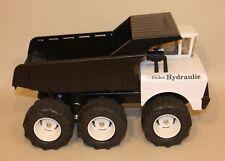 Custom Mighty Tonka Pressed Steel Hydraulic Dump Truck Black & White 6 Wheels