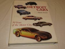 RARE Coffee Table large hardcover book Detroit Cars 50 Years Motor City History