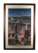 """""""Paris La Nuit"""" by Michel Delocroix Framed Lithograph Print 27"""" x 33"""" Gorgeous!"""