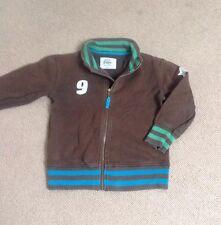 Boden Sweatshirt Cardigan Zipper, 5-6y, Brown