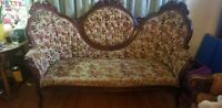 Antique Sofa Loveseat: Kimball Furniture Antique Reproductions in Floral Design