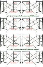 Eight Set Of New 5' X 5' X 7' Masonry Scaffolding Frame Set Cbmscaffoldcom