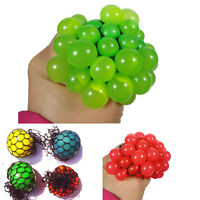 1X Novel Squishy Mesh Abreact Ball Squeeze Anti Stress Toy For Kids Play Gift
