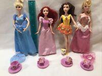 Barbie Disney Princess Doll Ariel/Snow White/Cinderella/Bath Play Belle/Tea Set