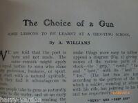 Choosing a Gun Stock Shooting School Golf Kings Royalty Rare Old Articles 1907