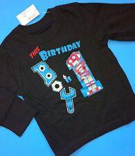 1st Birthday 1 Year Baby Boys Graphic Shirt 12 18 Months Robot Gift LS