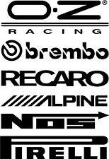 2 x DOOR STACK RACING logos graphic car sticker decals  set2