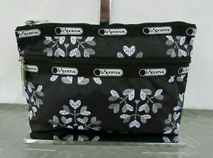 Lesportsac Cosmetic Clutch Love Blossoms Hearts Travel Make-up Bag Pouch NWT