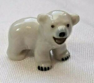Vintage Wade Whimsies hand painted baby polar bear figurine
