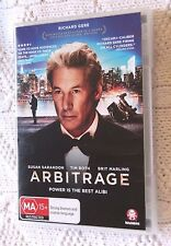 ARBITRAGE (DVD) REGION-4, LIKE NEW. FREE PRIORITY POSTAGE