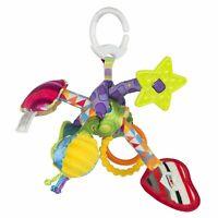 LC27128 Lamaze Tug n Play Knot Clip & Go Pram Toy Tomy Baby Babies Infant 0m+