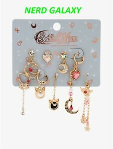 Sailor Moon Mix & Match Earrings, 9 Piece Set, NEW OFFICIALLY LICENSED!