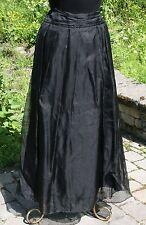 Cloak of Many Colors Liberty & Lucrezia Sz 8 Black Skirt Silk Sheer Womens Vtg