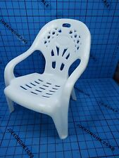 Custom 1:6 Plastic Chair for Figure - White Chair