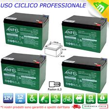 4 BATTERIA RICARICABILE PIOMBO 12 Volt 12Ah MONOPATTINO ELETTRICO FASTON 6.35mm