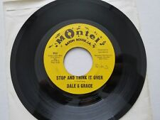 DALE & GRACE - Stop And Think It Over / Bad Luck 1964 LOUISIANA ROCK & ROLL 7""