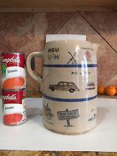 Vintage College Souvenir Stoneware Mug Pitcher MSU Memory Jug U of M Signed