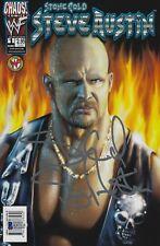 Stone Cold Steve Austin Signed 1 Edition Nov 1999 WWE Comic Book BAS Beckett COA