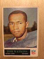 Tom Watkins Autograph Signed Philadelphia 1965 Card # 129