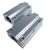 US Stock 2pcs SC8LUU SCS8LUU 8mm CNC Linear Ball Motion Bearing Slide