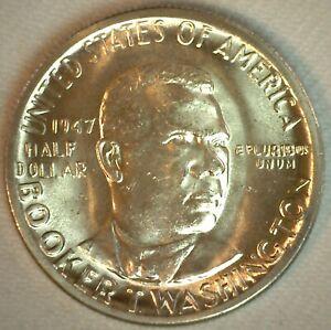 1947 B.T. Washington Commemorative Half Dollar Silver Brilliant Uncirculated