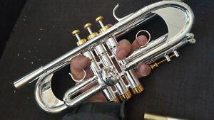 Berkeley Silver Full Engrave C Trumpet w/Bb LP, Monette DH2 MP, Heavy Cap