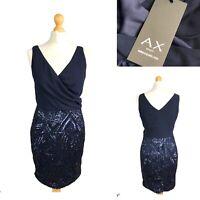 AX PARIS Navy Blue Cocktail Party Sequin Dress Size 8 BNWT RRP £35
