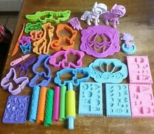 "Lot of Play-Doh Cutters Molds Accessories ""My Little Pony""-""Zoo Animals"" Euc"