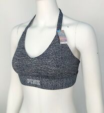 Victoria Secret Pink Sport Bra Crop Ultimate UNLINED Pullover S L  NWT