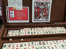 Vintage Mahjong Set with Faux Alligator Case, 153 Tiles (..5)