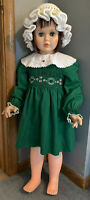 "35"" Vintage AE 3651 Patti PlayPal Doll Companion Friend Extra Clothes Needs TLC"