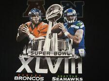 NFL Superbowl XLVIII 48, Seattle Seahawks vs Denver Broncos T-shirt Sz 2XL
