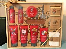 """""""DON"""" ED HARDY Men's 13 Piece WOODEN TRAY BATH TOILETRIES COLLECTION~Inc.Tray"""