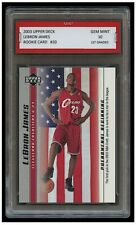 2003 LEBRON JAMES UPPER DECK UD USA 1ST GRADED 10 ROOKIE CARD LAKERS/CLEVELAND