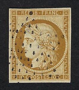 FRANCE 1850 CERES Nº 1 - 10c BISTRE - USED